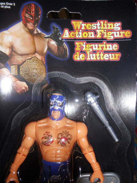 Rey Mysteriohnoooo! on Flickr.Bootleg Wrestler…. Nice chest tats
