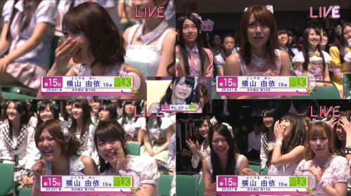 marisado:  okotteru:  Oh Yui, Y U SO funny?  Takamina's face is priceless.