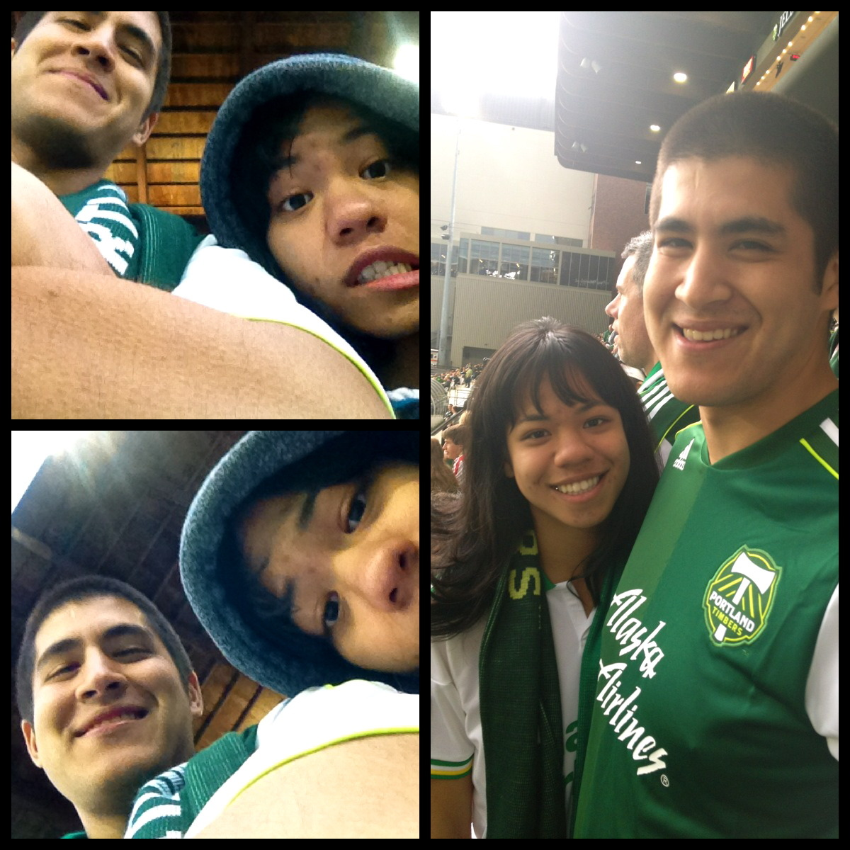 My very first Timbers game with the boyfriend!