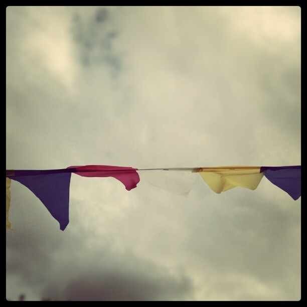 Flags in the wind. (Taken with Instagram)