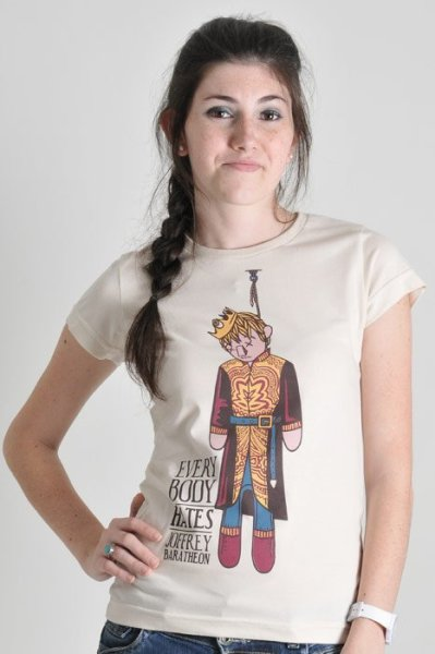 "PRECISO DESTA CAMISETA! ""Everybody hates Joffrey Baratheon""."