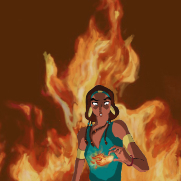 Firebender Tzipporah WIP ive never drawn fire before tis taking me QUITE THE WHILE