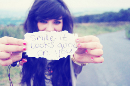 always smile cuz there is 1 person who is waiting for it :)