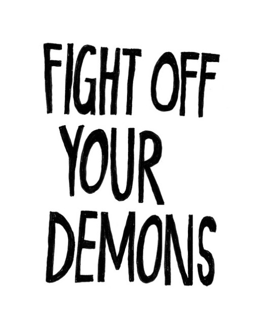 thesweetandthefine:  fight off your demons by Beverly Ealdama on Flickr.