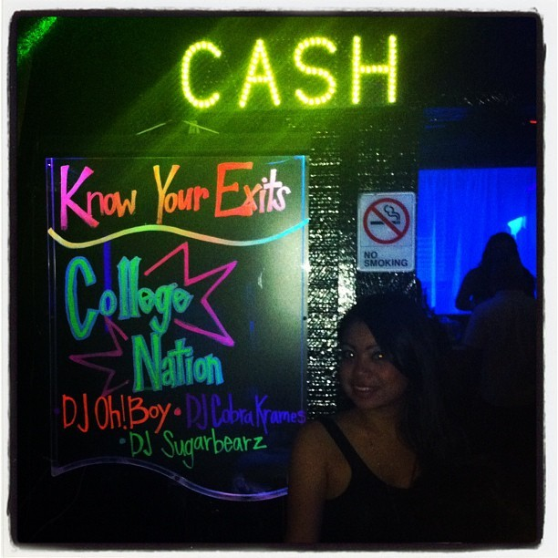 me & @0rdinaryb0y #cashparty #collegenation (Taken with Instagram)
