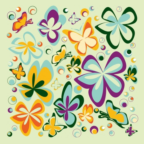 "Butterfly Pattern, art by JP Denyer, Art Direction Michael Nguyen, both on Coroflot.com.  So Pretty.  ""JP is a very talented, creative individual, who is able to span between the management of a job or through the creation of a job, always in one constant fluid motion."""
