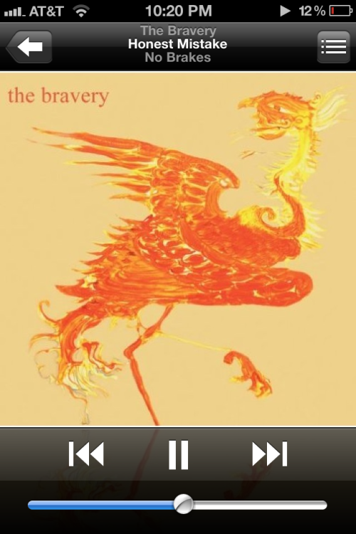 The bravery - honest mistake  Maybe I should be charging my phone… After this song :)