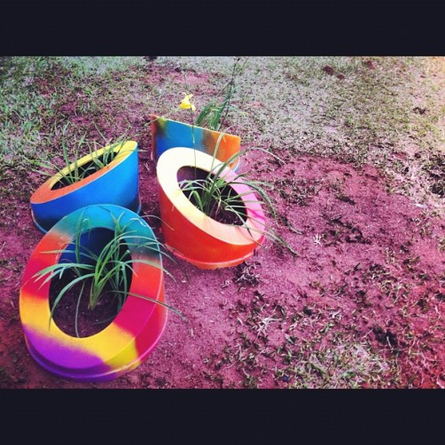 Some really neat #planters at #ufu  (Taken with Instagram at UFU - Universidade Federal de Uberlândia)
