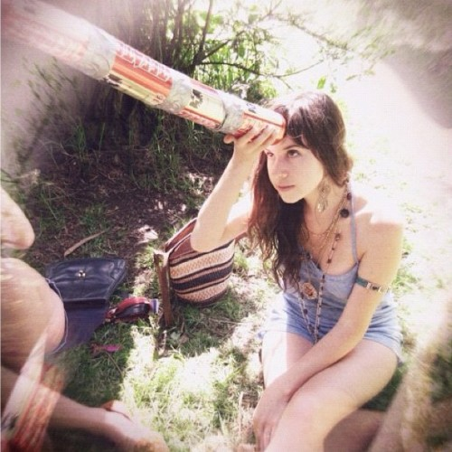 charmaineolivia:  #flashbackfriday first summer in SF. Tecate unicorn horn & baby skin (Taken with Instagram)