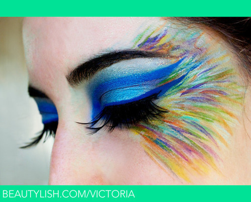 Rainbowed Feathers Flock Together. | Victoria S.'s (victoria) Photo | Beautylish on We Heart It. http://weheartit.com/entry/30181887