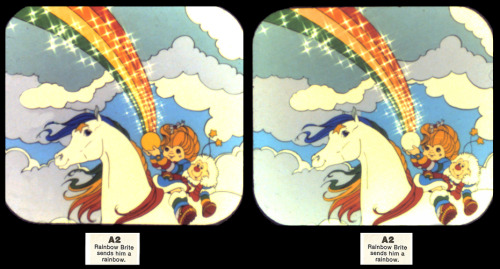 Rainbow Brite 3d Viewmaster Reel Frame 2! With Rainbow Brite, Starlite and Twink