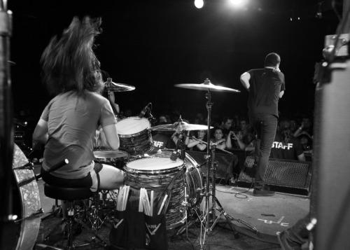 Touche Amore @ The Glasshouse. Elliot, best drum hair ever.