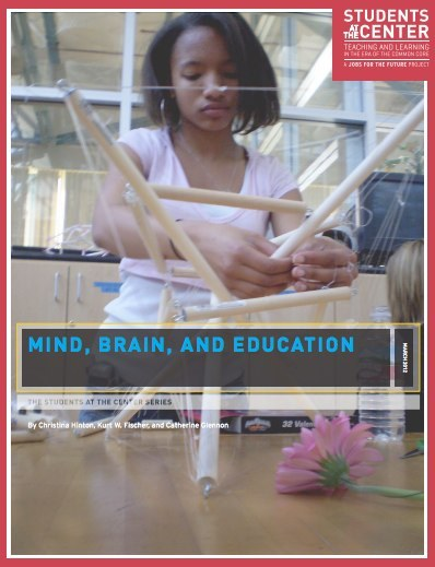 MIND, BRAIN, AND EDUCATION: AUTHORS: CHRISTINA HINTON, ED.D. Christina Hinton, Ed.D., works on issues at the nexus of neuroscience and Read more KURT W. FISCHER, PH.D. Kurt W. Fischer, Ph.D., Charles Bigelow Professor of Education and the Read more CATHERINE GLENNON, ED.M. Catherine Glennon, Ed.M., earned a Master's degree from the Mind, Brain, and Read more What does brain research tell us about how we learn and how learning, in turn, shapes the architecture of the brain? What is the connection between the stress of poverty and the impact of emotions on learning? To answer such questions, this paper draws on recent brain research and research in cognitive science, highlighting the positive impact of student-centered learning approaches.