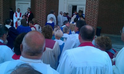 Preparing to process, ala cats with vestments.