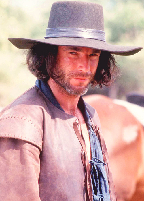 John Proctor, portrayed by Daniel Day-Lewis, on the set of The Crucible (1996)