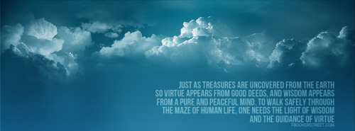 Buddah Guidance of Virtue Quote Facebook Cover