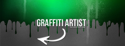 Graffiti Artist Green Facebook Cover