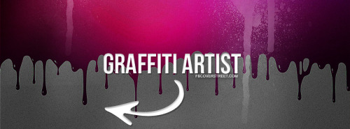 Graffiti Artist Pink Facebook Cover