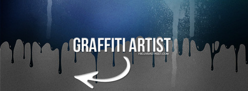 Graffiti Artist Blue Facebook Cover