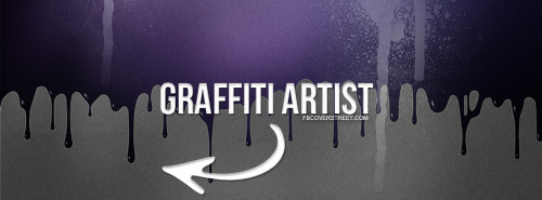 Graffiti Artist Purple Facebook Cover