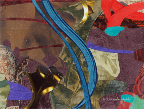 mixed media collage by Alexandra Sheldon