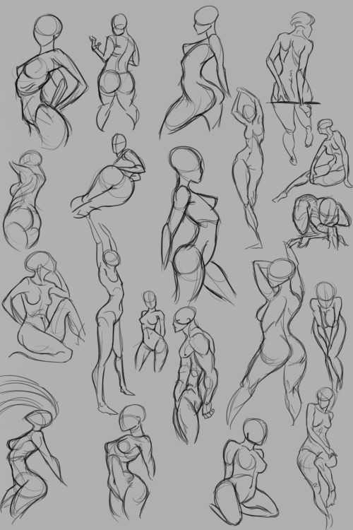 Practice gesture and anatomy
