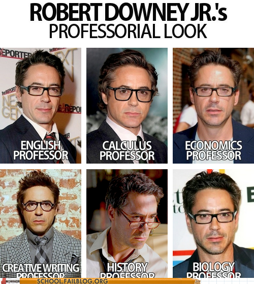 kairibloodheart:  Robert Downey JR. as all the teachers?…………..Where the hell is the enrolment form!?