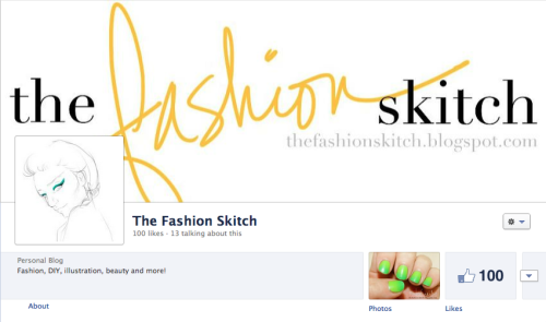 The Fashion Skitch hit the big 100 on Facebook! It's time to celebrate by giving back to all of you who have supported me, my blog and my work. I'm so thankful to you all so I'll be working on a giveaway during the weekend! Stay posted to Facebook for more details!  thefashionskitch.blogspot.com www.facebook.com/TheFashionSkitch Instagram: LilaLane