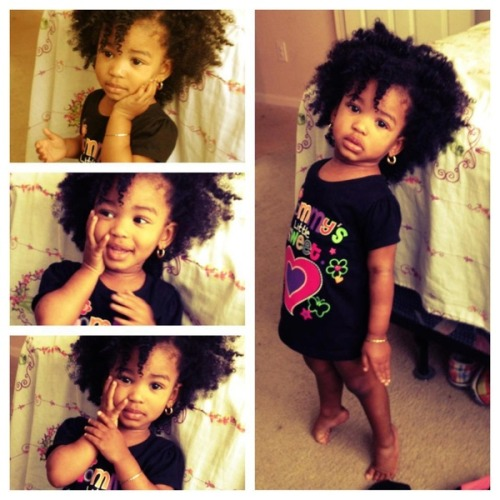 purplepoetryinmotion:  blkgirlsrock:  My heart in the form of a little human. <3  Adorable