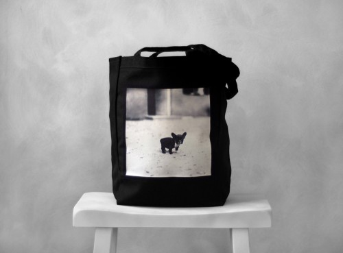 French Bulldog canvas bag by bucktoothedbunny
