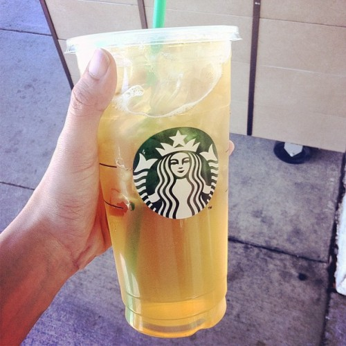 they accidentally gave me a trenta. why is it so big?! (Taken with Instagram at Starbucks)