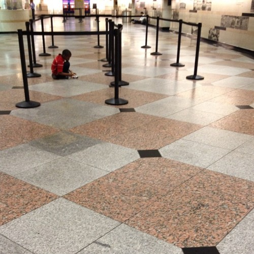 #playing #alone in #pennstation. (Taken with Instagram at New York Penn Station)