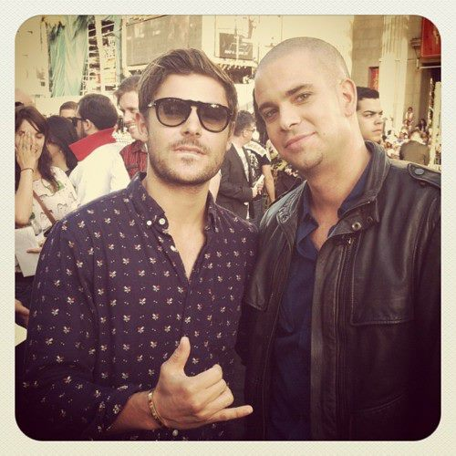 Mark Salling and Zac Efron at the Rock Of Ages premiere.