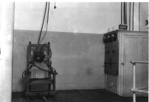 "legrandcirque:  ""Old Sparky""  electric chair, which had 104 executions at the Tucker Unit in Arkansas, USA, 1926-1948. Source: Arkansas Department of Correction"