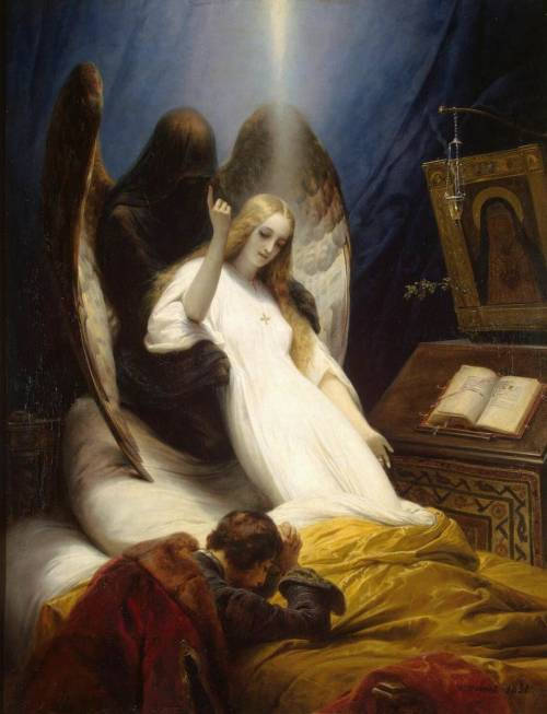 "sinisterrealm:  ""Angel of Death"" by Horace Vernet"