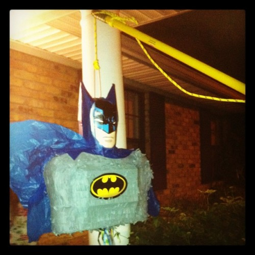 batman piñata, ftw. happy birthday sam! @gangstasam @acbreaux  (Taken with Instagram)