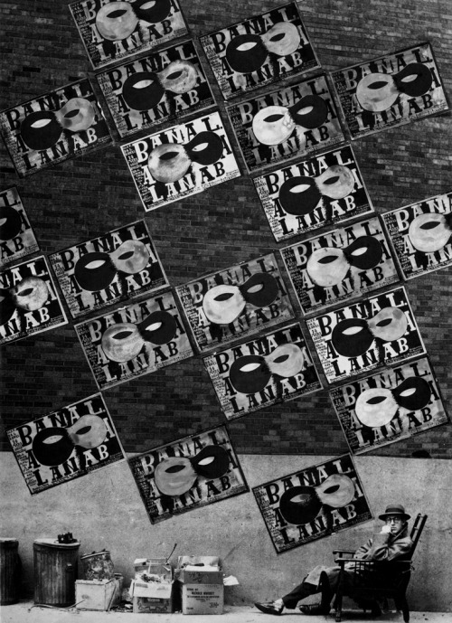 legrandcirque:  Alexey Brodovitch,  Bal Banal poster on the walls of Paris, 1924.