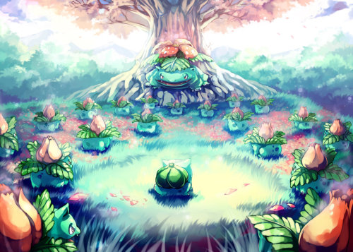 pokemonfourever:  Pokemon : Bulbasaur Secret Garden by *Sa-Dui
