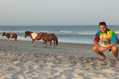 The beach AND wild horses. Hello, Assateague Island!