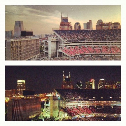shes-gone-country:  Day n Night. #nashville #skyline (Taken with Instagram)