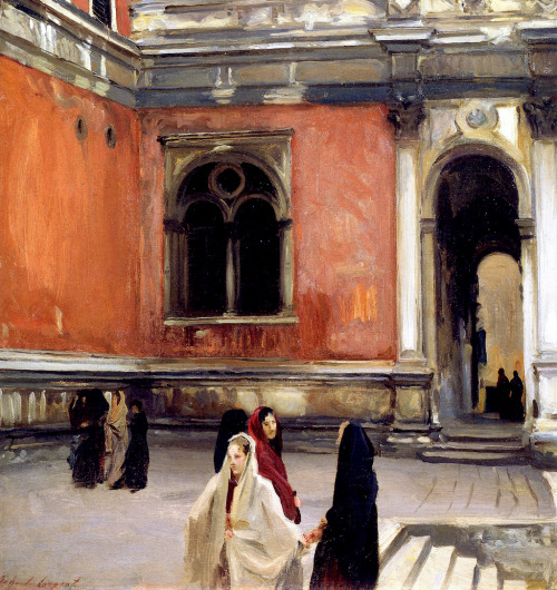 paintingbox:  John Singer Sargent. Campo behind the Scuola di San Rocco, 1882. Oil on Canvas. 26 x 27 in. (66 x 68.6cm)