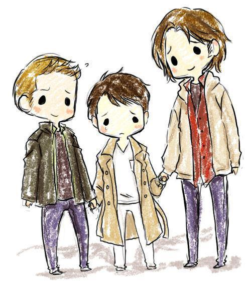 carry-on-my-wayward-castiel:  lovelynobody00:  farrahda5hy:  I love how Sam is like three heads taller than Castiel. Accuracy is accurate.  d'aw that is adorable  (via imgTumble)
