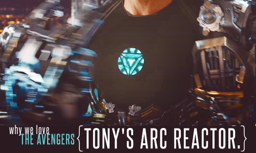 Tony's arc reactor.