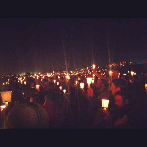 In memory to those lives lost to #HIV and #AIDS - #alc11 #candlelight vigil - seeing over #2000 people holding #candles on the #beach was #pretty #incredible  (Taken with Instagram)