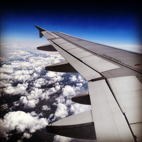 mandatory plane picture (Taken with Instagram)