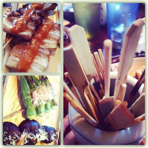 #Yakitori night and the final aftermath of skewer sticks. #japanese #food (Taken with Instagram)