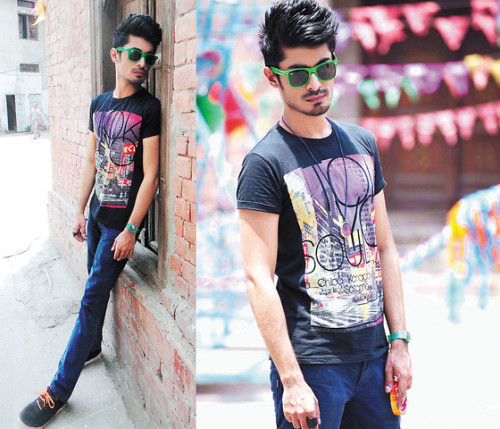 I hate graphic tees, but I love the sunglasses and the hair.