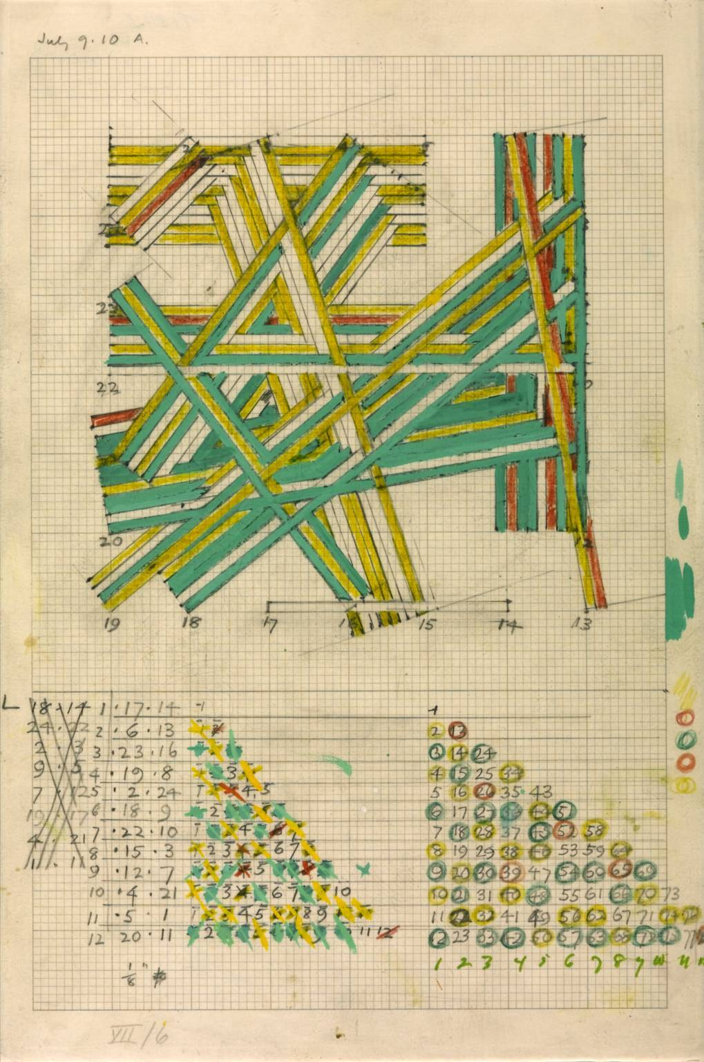 fivewordsinaline:    Kenneth Martin  Chance and Order Group VII, Drawing 6 1971