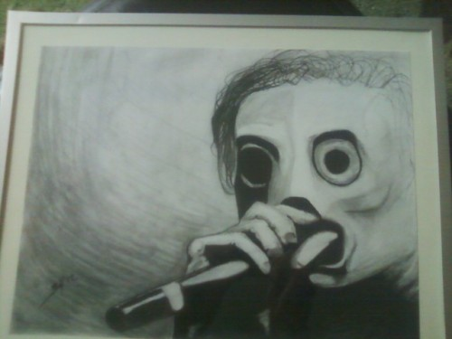 Drew this for my brother's birthday :)  He's obsessed with Corey Taylor (the lead singer of Slipknot and StoneSour)