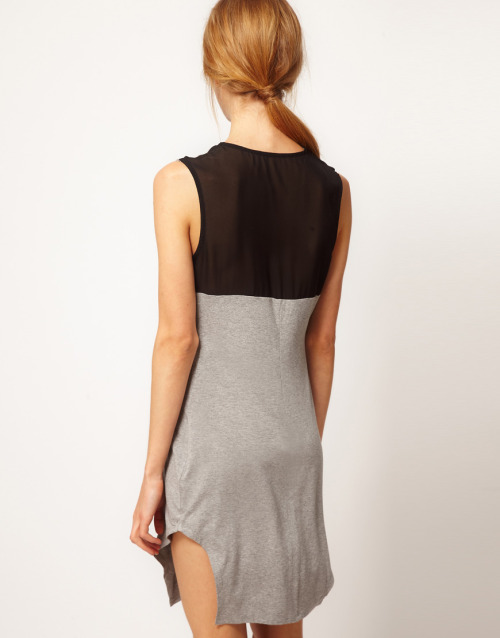Factory By Erik Hart Vest Dress With Chiffon Back PanelMore photos & another fashion brands: bit.ly/JgPW0o